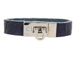 Gesparmbanden My Bendel - MB4005 - Gesp armband - Zilver - Blauw