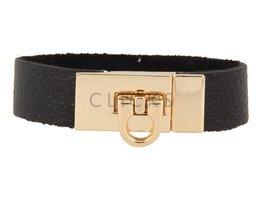 Gesparmbanden My Bendel - MB4001 - Gesp armband - Goud - Zwart
