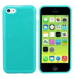 iHoez.nl iPhone 5c hoesje Turquoise TPU