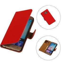iHoez.nl Samsung S6 hoesje boek Rood Classic