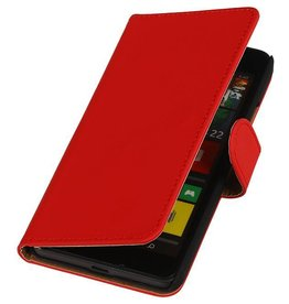 iHoez.nl Lumia 640 hoesje Boek Classic Rood