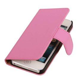 iHoez.nl iPhone 4 / 4s hoesje boek Classic Roze