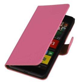 iHoez.nl Lumia 640 XL hoesje Boek Classic Roze