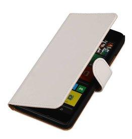 iHoez.nl Lumia 640 XL hoesje Boek Classic Wit