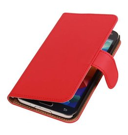 iHoez.nl Samsung Note 4 hoesje Rood Boek Classic