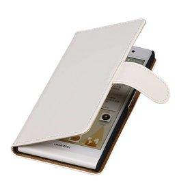 iHoez.nl Huawei P6 hoesje Wit Boek Classic