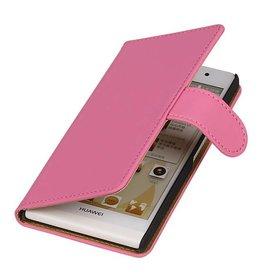 iHoez.nl Huawei P6 hoesje Roze Boek Classic