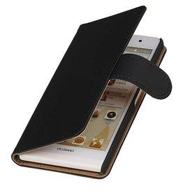 iHoez.nl Huawei P6 hoesje Zwart Boek Classic