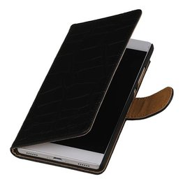 iHoez.nl Huawei Ascend Y540 hoesje Boek Classic Croco Zwart