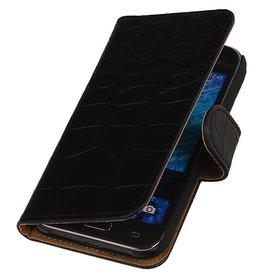 iHoez.nl Samsung Galaxy Xcover 3 G388F Boek Classic Croco Zwart