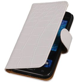 iHoez.nl Samsung Galaxy Xcover 3 G388F Boek Classic Croco Wit