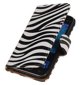 iHoez.nl Samsung Galaxy Xcover 3 G388F Boek Classic Zebra Wit