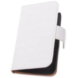 iHoez.nl Croco Sony Xperia Z1 Compact Boekhoesje Wit
