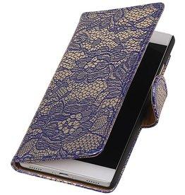 iHoez.nl Lace Huawei P8 Boekhoesje blauw