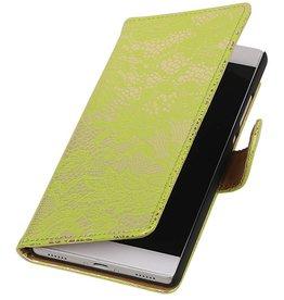 iHoez.nl Lace Huawei P8 Boekhoesje Groen