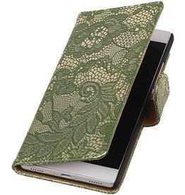 iHoez.nl Lace Huawei P8 Boekhoesje Donker Groen