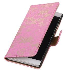 iHoez.nl Lace Huawei P8 Boekhoesje roze