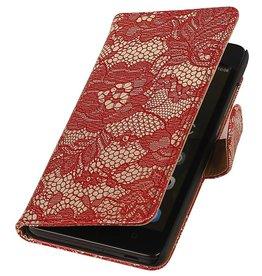 iHoez.nl Lace Huawei Honor 4C Boekhoesje Rood