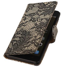 iHoez.nl Lace Huawei Honor 4C Boekhoesje Zwart