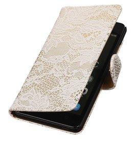 iHoez.nl Lace Huawei Honor 4C Boekhoesje Wit