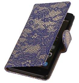 iHoez.nl Lace Huawei Honor 4C Boekhoesje Blauw