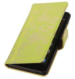 iHoez.nl Lace Huawei Honor 4C Boekhoesje Groen