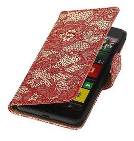 iHoez.nl Lace Microsoft Lumia 640 Boekhoesje Rood