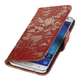 iHoez.nl Lace Samsung Galaxy J5 Boekhoesje Rood