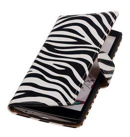 iHoez.nl Zebra LG G4 Boekhoesje Wit