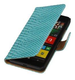 iHoez.nl Snake Microsoft Lumia 640 Boekhoesje Turquoise