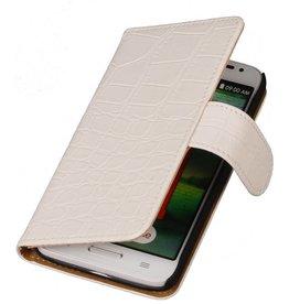 iHoez.nl Croco Huawei Ascend Y330 Boekhoesje Wit