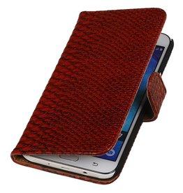 iHoez.nl Snake Samsung Galaxy J7 Boekhoesje Rood