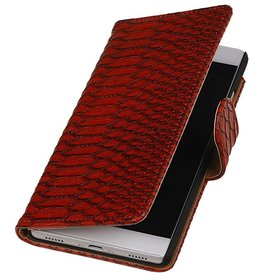 iHoez.nl Snake Huawei P8 Boekhoesje Rood