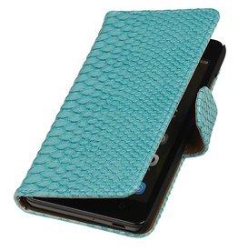 iHoez.nl Snake Huawei Honor 4C Boekhoesje Turquoise