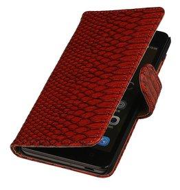 iHoez.nl Snake Huawei Honor 4C Boekhoesje Rood
