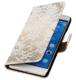 iHoez.nl Lace Huawei Honor 6 Plus Boekhoesje Wit