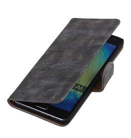 iHoez.nl Lizard Samsung Galaxy A5 Boekhoesje Grijs
