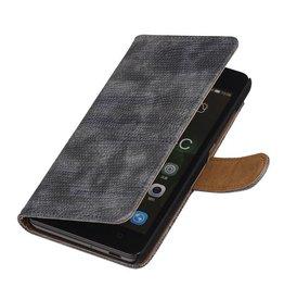 iHoez.nl Lizard Huawei Honor 4C Boekhoesje Grijs
