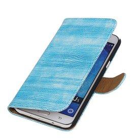 iHoez.nl Lizard Samsung Galaxy J5 Boekhoesje Turquoise