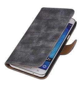iHoez.nl Lizard Samsung Galaxy J7 Boekhoesje Grijs