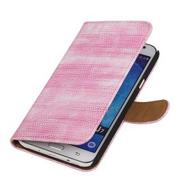 iHoez.nl Lizard Samsung Galaxy J7 Boekhoesje Roze