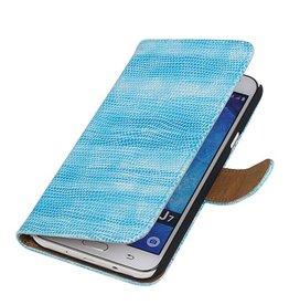 iHoez.nl Lizard Samsung Galaxy J7 Boekhoesje Turquoise