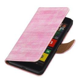 iHoez.nl Lizard Microsoft Lumia 640 Boekhoesje Roze