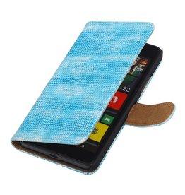 iHoez.nl Lizard Microsoft Lumia 640 Boekhoesje Turquoise