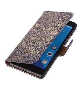 iHoez.nl Lace Huawei Honor 7 Boekhoesje Blauw