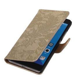 iHoez.nl Lace Huawei Honor 7 Boekhoesje Goud
