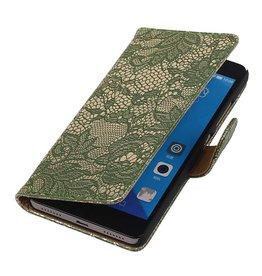 iHoez.nl Lace Huawei Honor 7 Boekhoesje Donker groen