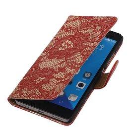 iHoez.nl Lace Huawei Honor 7 Boekhoesje Rood