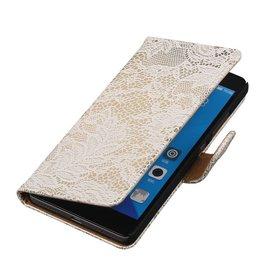iHoez.nl Lace Huawei Honor 7 Boekhoesje Wit