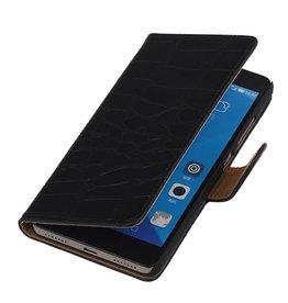 iHoez.nl Croco Huawei Honor 7 Boekhoesje Zwart